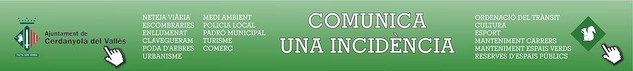 Comunica una incidència a l'Ajuntament de Cerdanyola o a l'EMD de Bellaterra