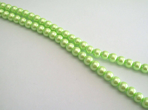 Pearl Glass Beads 8mm