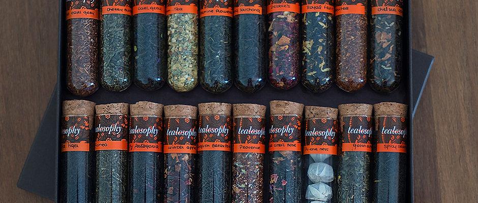 Perfect Tea Tasting Box - Floral, cítrico, clássico, picante ...