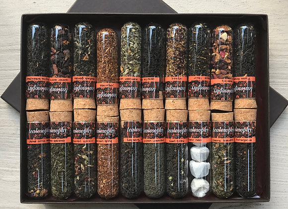 Perfect Tea Tasting Box - Florales, cítricos, clásicos, especiados...