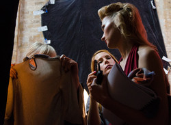 Preparing before a scene