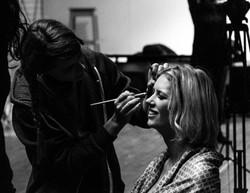 Makeup on set