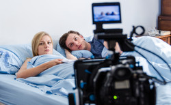 Filming a scene