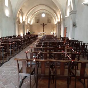 Messe a Mouans Juin 2020