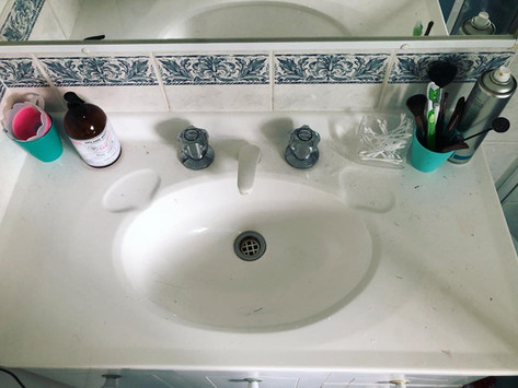 Basin Cleaning - Before