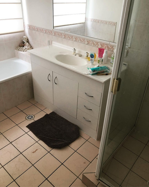 Bathroom Cleaning - Before