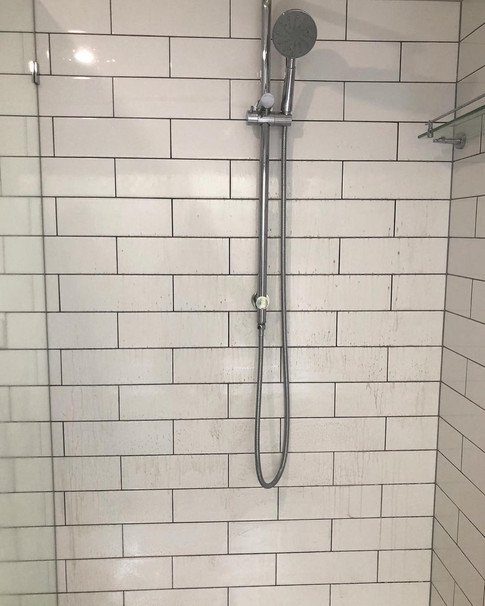 Shower Cleaning - During