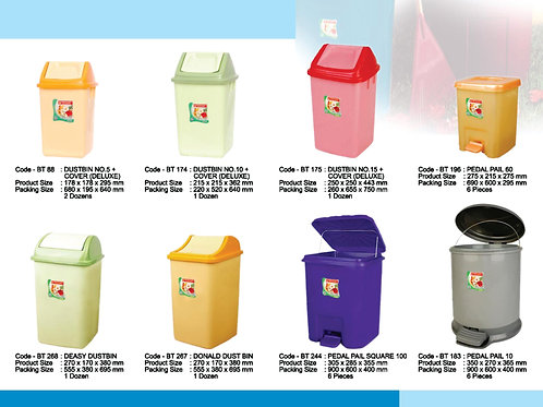 plasticware dustbin