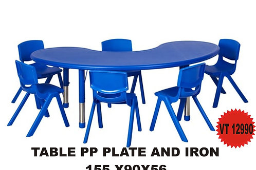 PP PLATE AND IRON FEET