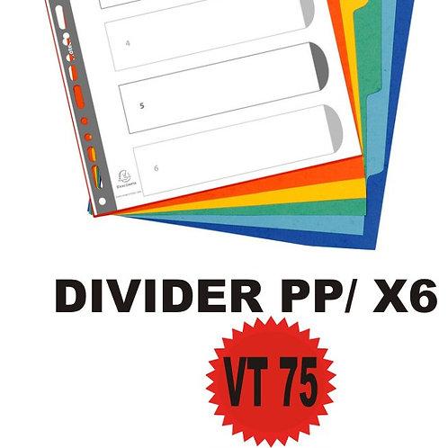 DIVIDER PP X6