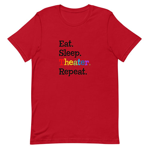 Eat, Sleep, Theater, Repeat - Black
