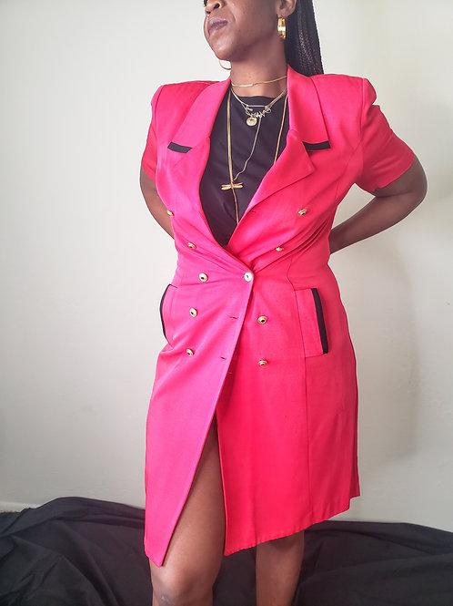 Vintage Blazer Dress < L>