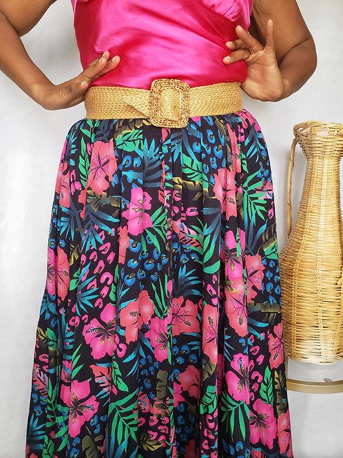 Maria Maxi Floral Skirt < 3X >