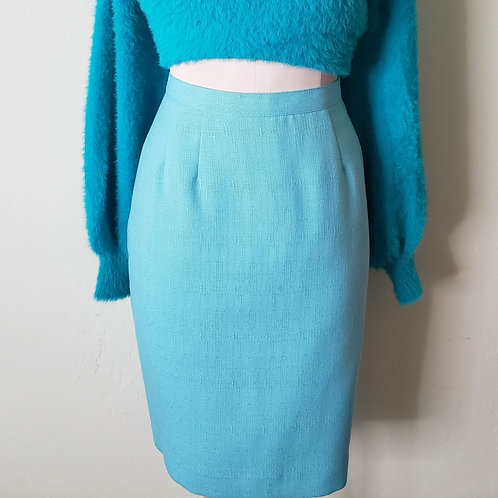 Vintage Baby Blue Skirt < 6 >
