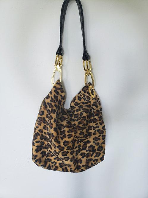 Vintage Cheetah Hobo Bag