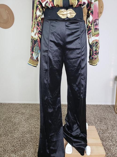 Fashion Nova Stretch Wide Leg Pants < L>