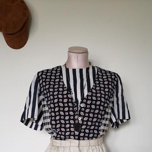 Vintage Stripe Vest Top Combo < Large >