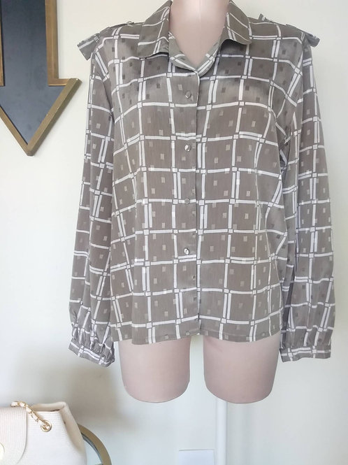 Vintage Geometric Blouse < 10 >