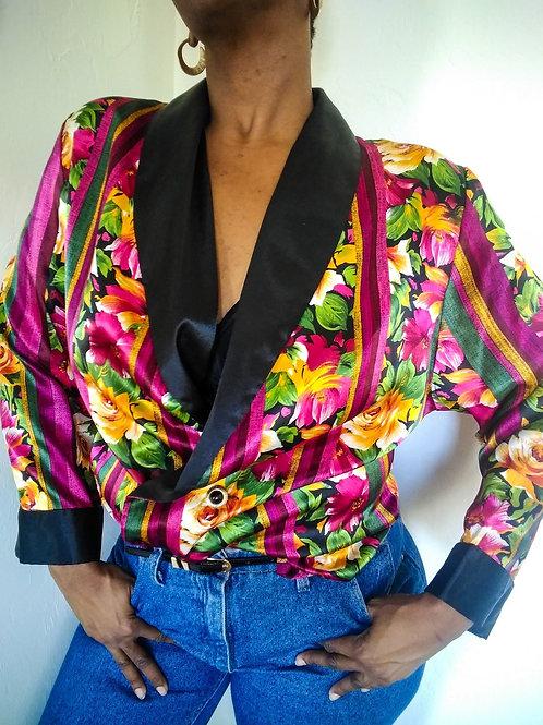 Victoria Secret Silky Floral Blazer < 16 >