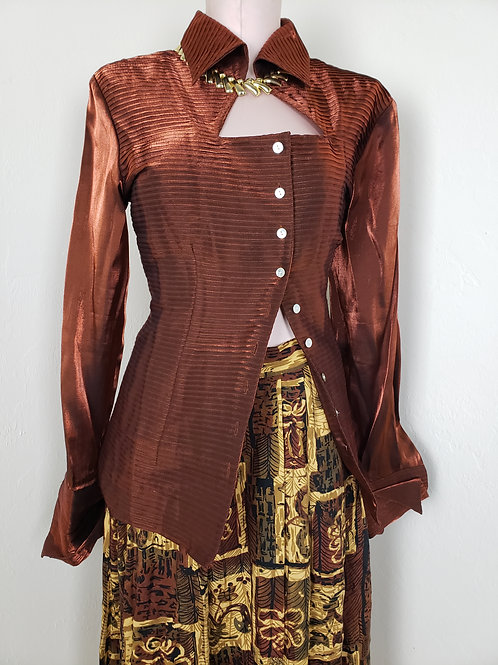 Runway Copper Asymmetrical Blouse <M >
