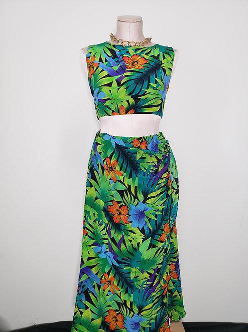 Diane Silk 2 Piece Skirt Set < M >