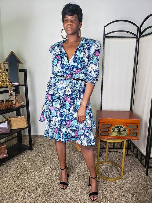 Floral 2 Piece Vintage Skirt Set < 16 >