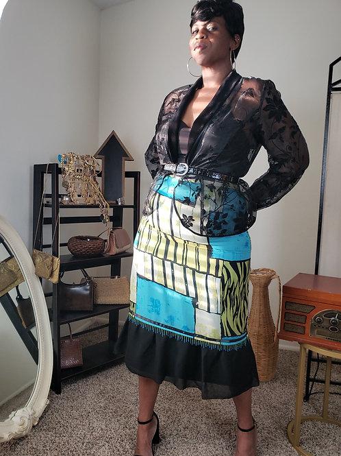 Alex Sheer Beauty Blouse < XL >