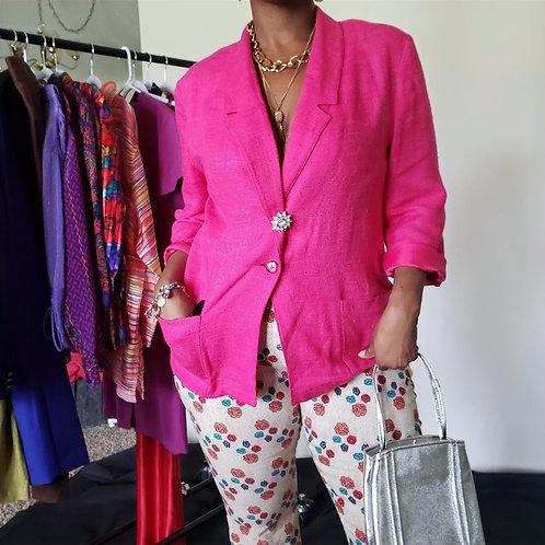 Pink Oversize Blazer w/ Pockets < 16 >