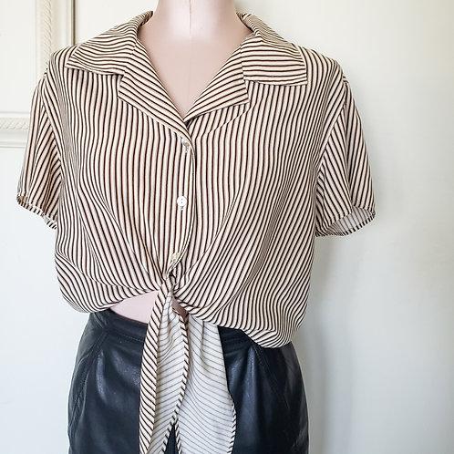 Express Silk Vintage Tie Blouse