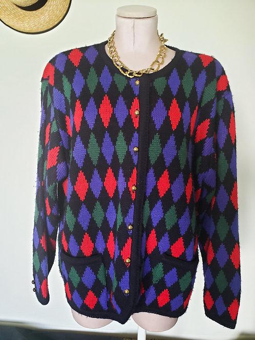 Oversize Argyle Sweater  < 20w >