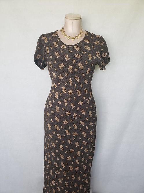 Blossom Vintage Maxi Dress < M >