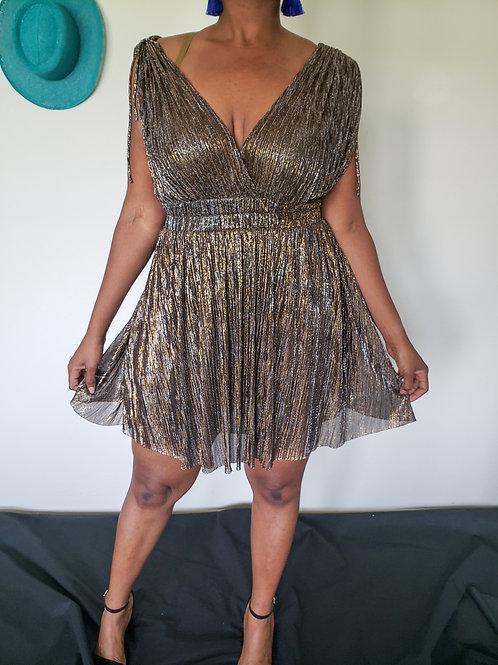 Shimmer Mini Dress  < M >