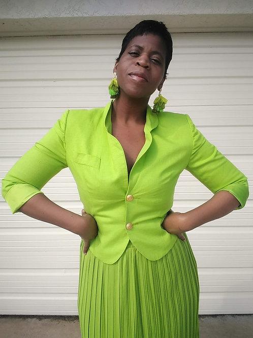 Line Green Blazer < 8 >