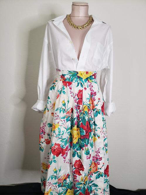 Floral Vintage  Skirt < 8 >