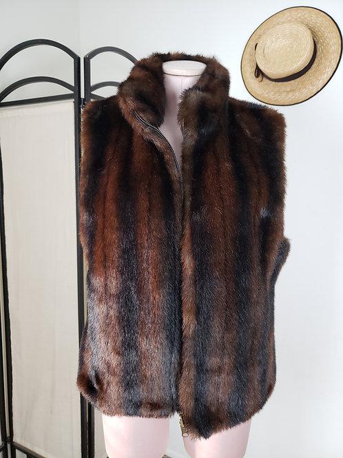 Faux Fur Reversible Vest < M >