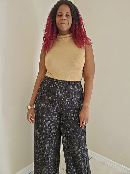 High Waist Vintage Trousers  < L >