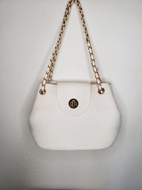Vintage White Natural Chain Link Bag