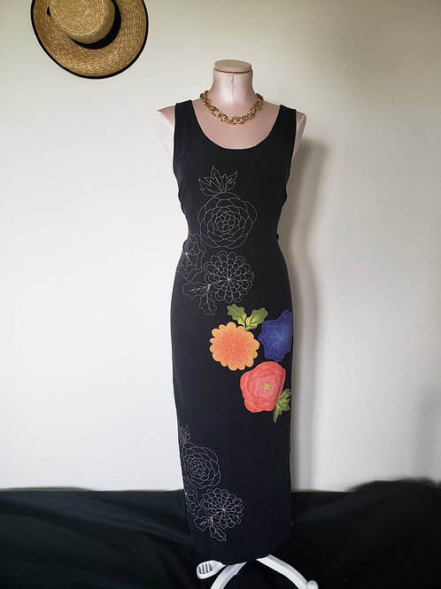 Lucia Silk Floral Dress < 10/12 >