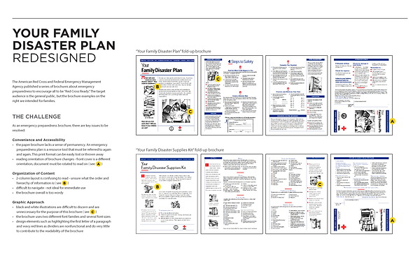 family disaster plan redesign