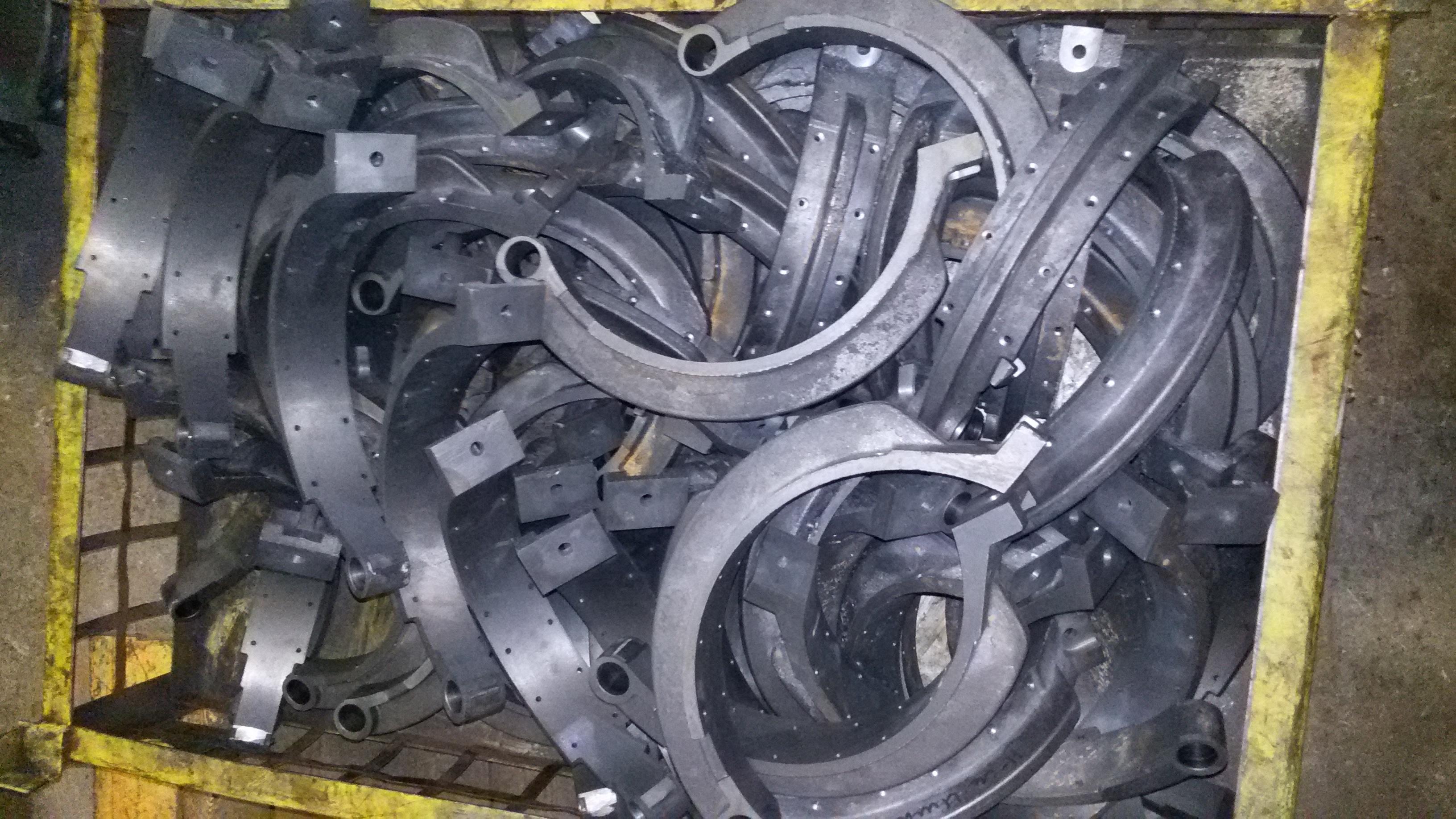 Колодка тормозная после обработки