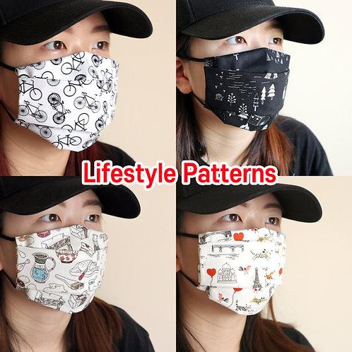 Lifestyle printed face Mask, Washable fabric face mask , Cotton fabric mask