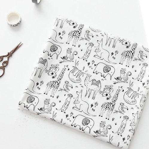 [Animal Pattern] Safari, 100% Cotton Fabric by the yard, DTP, Free Shipping