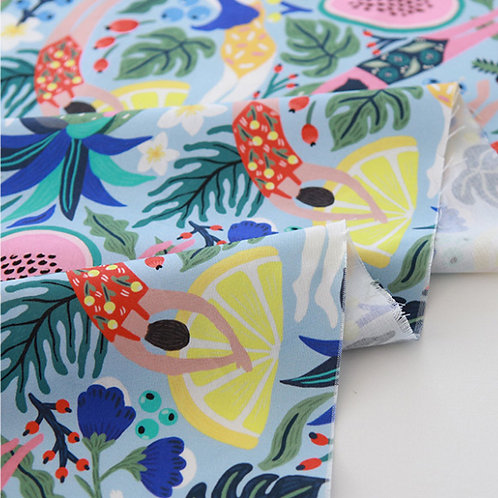 [Food Pattern] Mystic Swim, 100% Cotton Fabric by the yard, DTP, Free shipping
