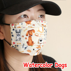 [Mysgreen-Face mask-Animal] Watercolor D