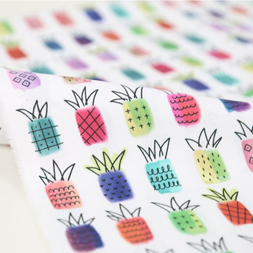 [Food Pattern] Sweet Pineapple, 100% Cotton Fabric by the yard,DTP,Free shipping