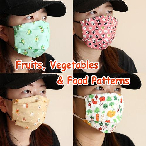 Fruit face Mask, Washable mask, face mask , fabric mask, masks