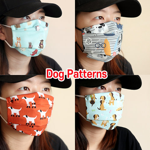 Dogs printed mask Reusable face mask with filter pocket Washable Cotton Mask