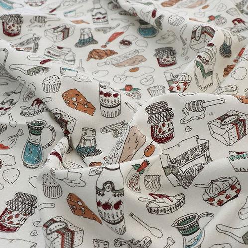 [Lifestyle Pattern] Baking Recipe, 100% Cotton Fabric by the yard,Free Shipping,
