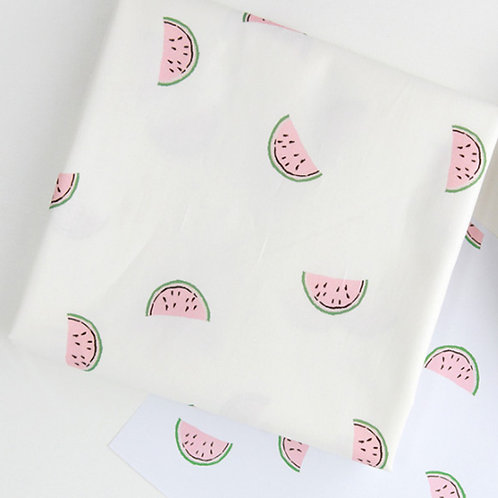 [Food Pattern] Watermelon, 100% Cotton Fabric by the yard, DTP, Free shipping