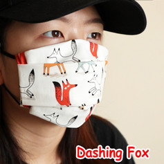 [Mysgreen-Face mask-Animal] Dashing Fox.